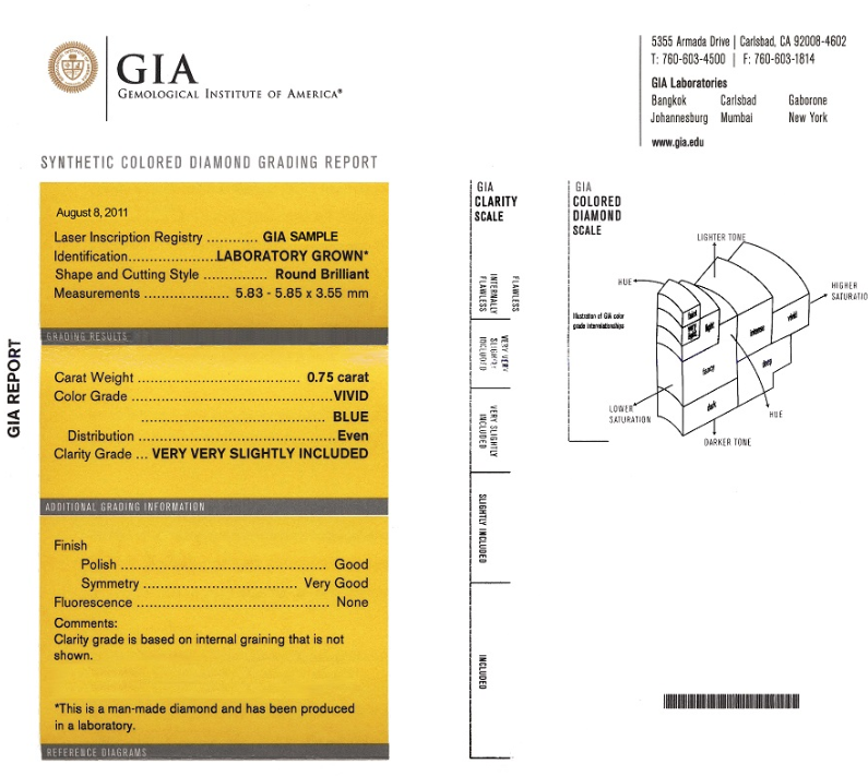 Ashes to diamonds certification by the GIA